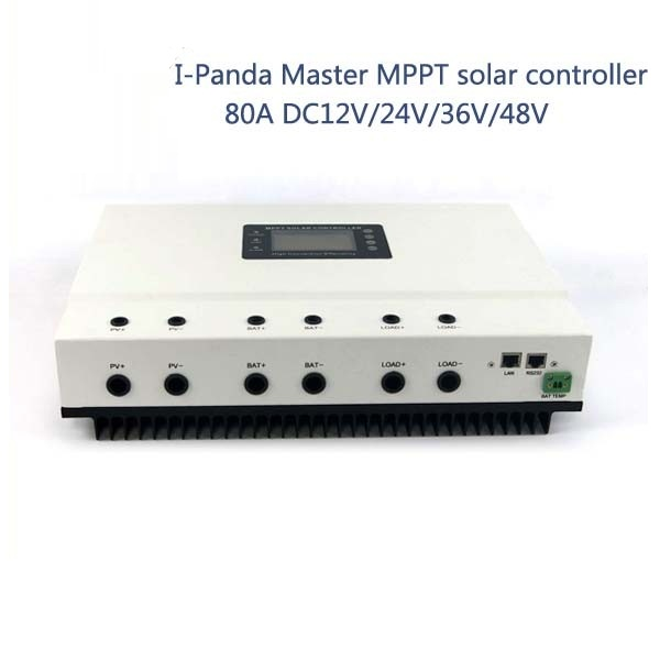 80A 48V PV regulator, 48V 80A Master MPPT solar charge controller with RS232 Lan, DC load Ctrl, 80A solar home controller
