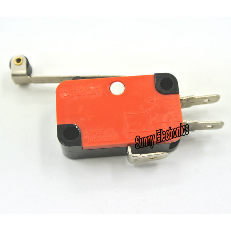2pcs LEVER /ROLLER LIMIT MICRO SWITCH 250VAC 10A