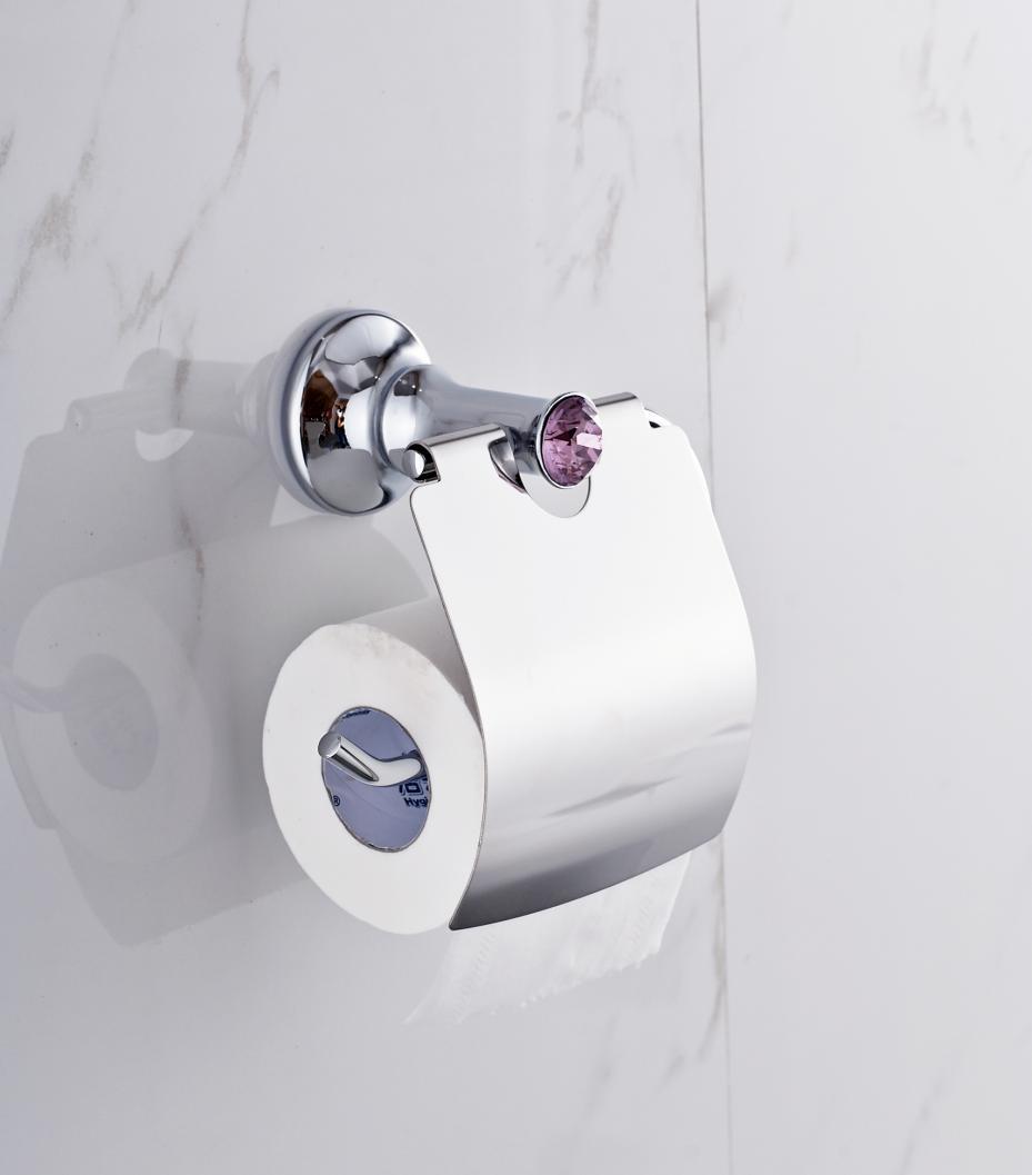 polished gold solid brass toilet paper holder
