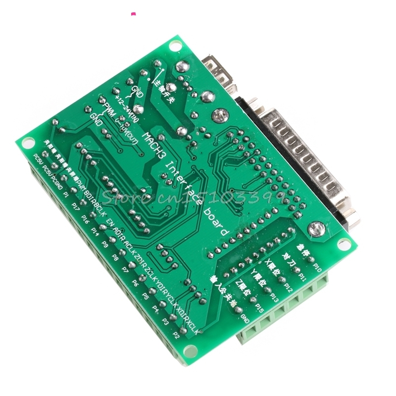 5 Axis CNC Breakout Board With Optical Coupler For Stepper Motor Driver MACH3 Usefull Motor Controller #G205M# Best Quality
