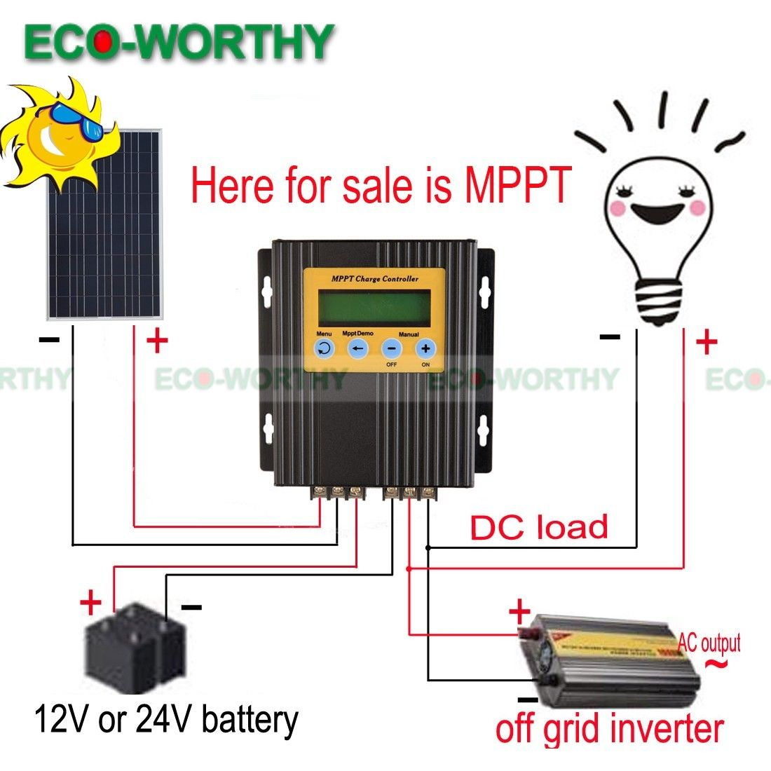 20A 12V/24V MPPT Solar Charge Controller Battery Regulator 15-30% More Power dd