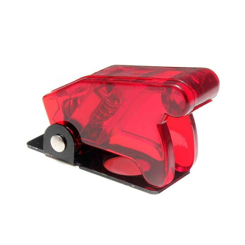 1 NEW SPDT MODEL ROCKET TOGGLE SWITCH WITH RED PLASTIC SAFETY FLIP COVER GUARD
