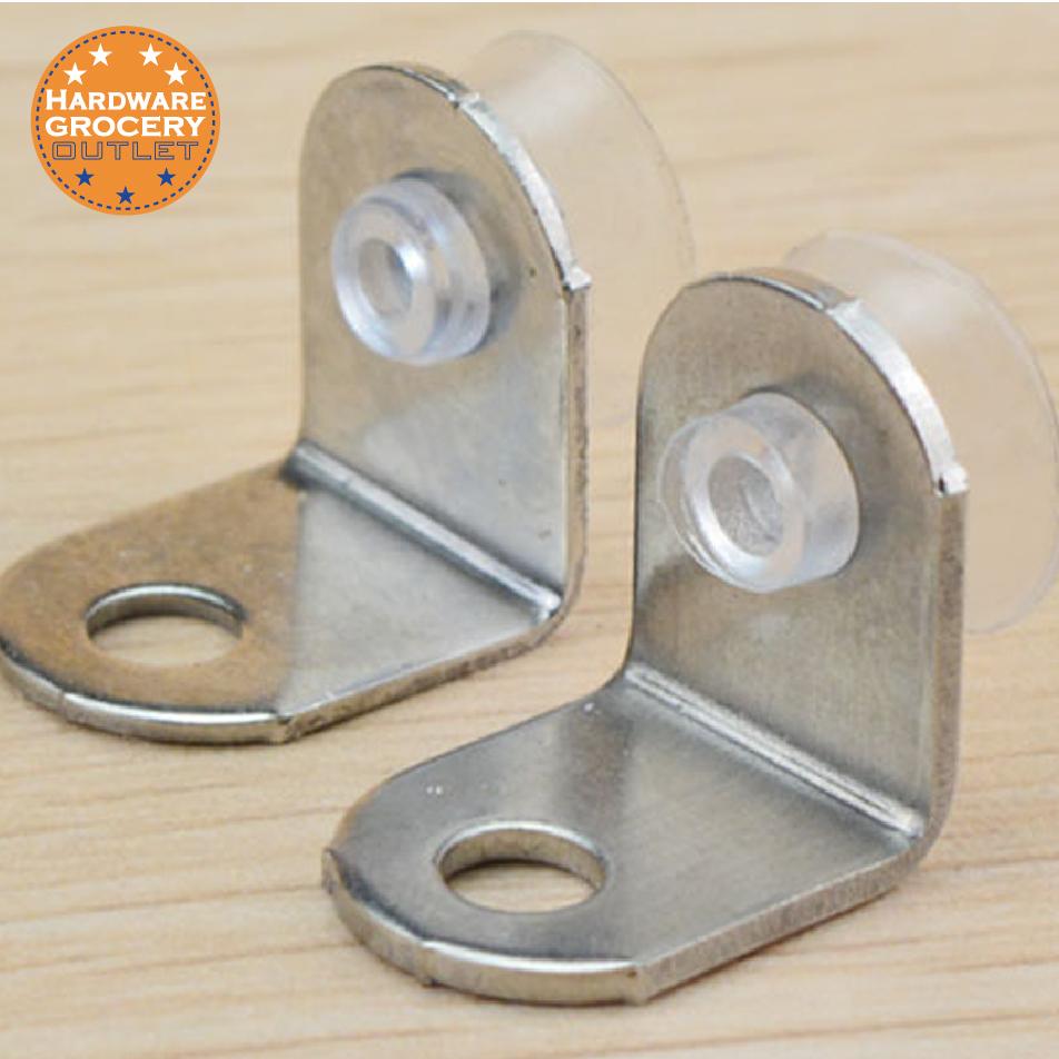 10pcs Shelf Support Glass Shelf Right Angle Fixing Clip Bracket with Suction Cup Bracket Corner Brace