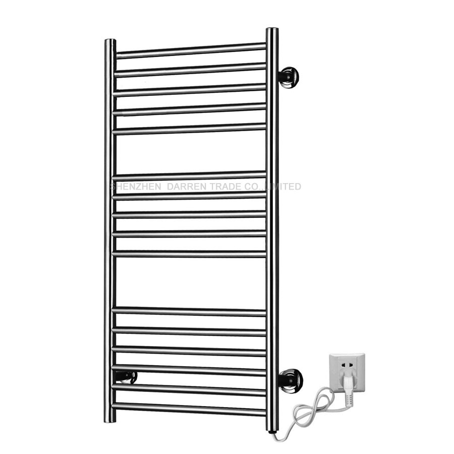 110v/220v Heated Towel Rail Holder Bathroom Accessories Towel RackS Stainless Steel Electric Towel Warmer Towel Dryer 120W