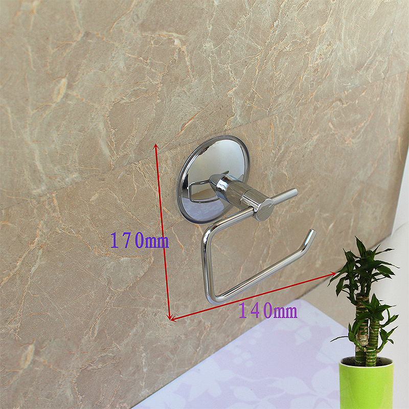 Stainless Steel Toilet Tissue Roll Paper Holder Suction Cup Toilet Paper Holders For Bathroom Tool
