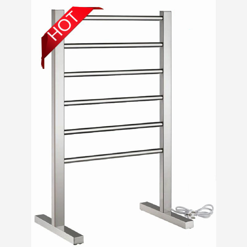 1pc Heated Towel Rail Holder Bathroom Accessories Towel: 1PC Heated Towel Rail,Floor Type Stainless Steel Electric