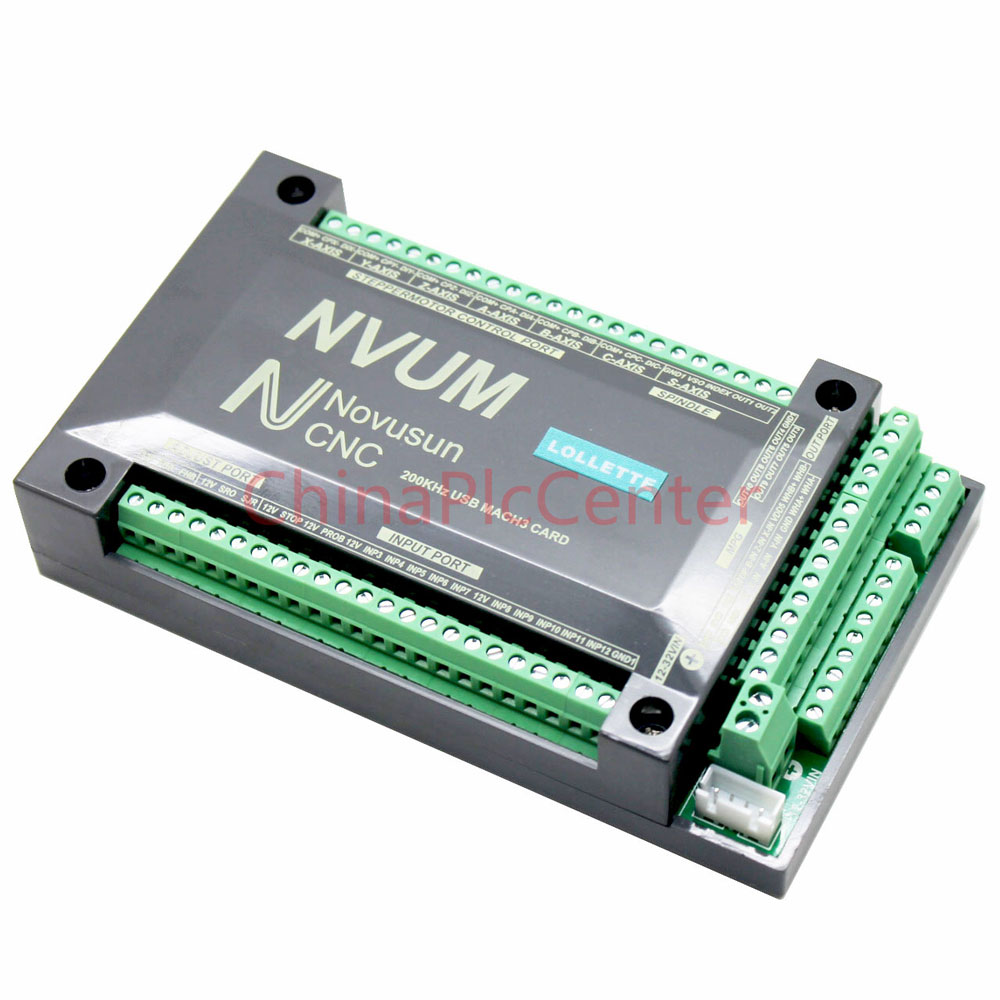 NVUM 4 Axis CNC Controller MACH3 USB Interface Board Card 200KHz for Stepper Motor