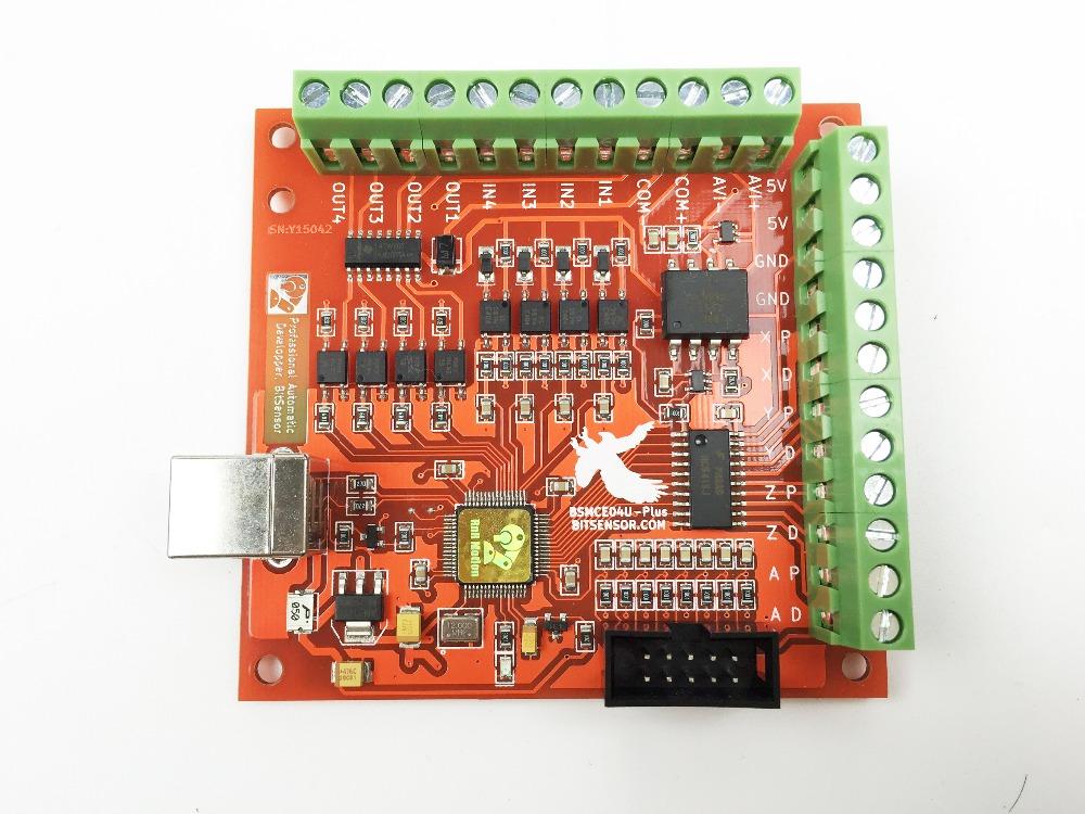 CNC 12-24V 100KHz MACH3 4-Axis USB CNC Controller Card for Engraving DE STOCK