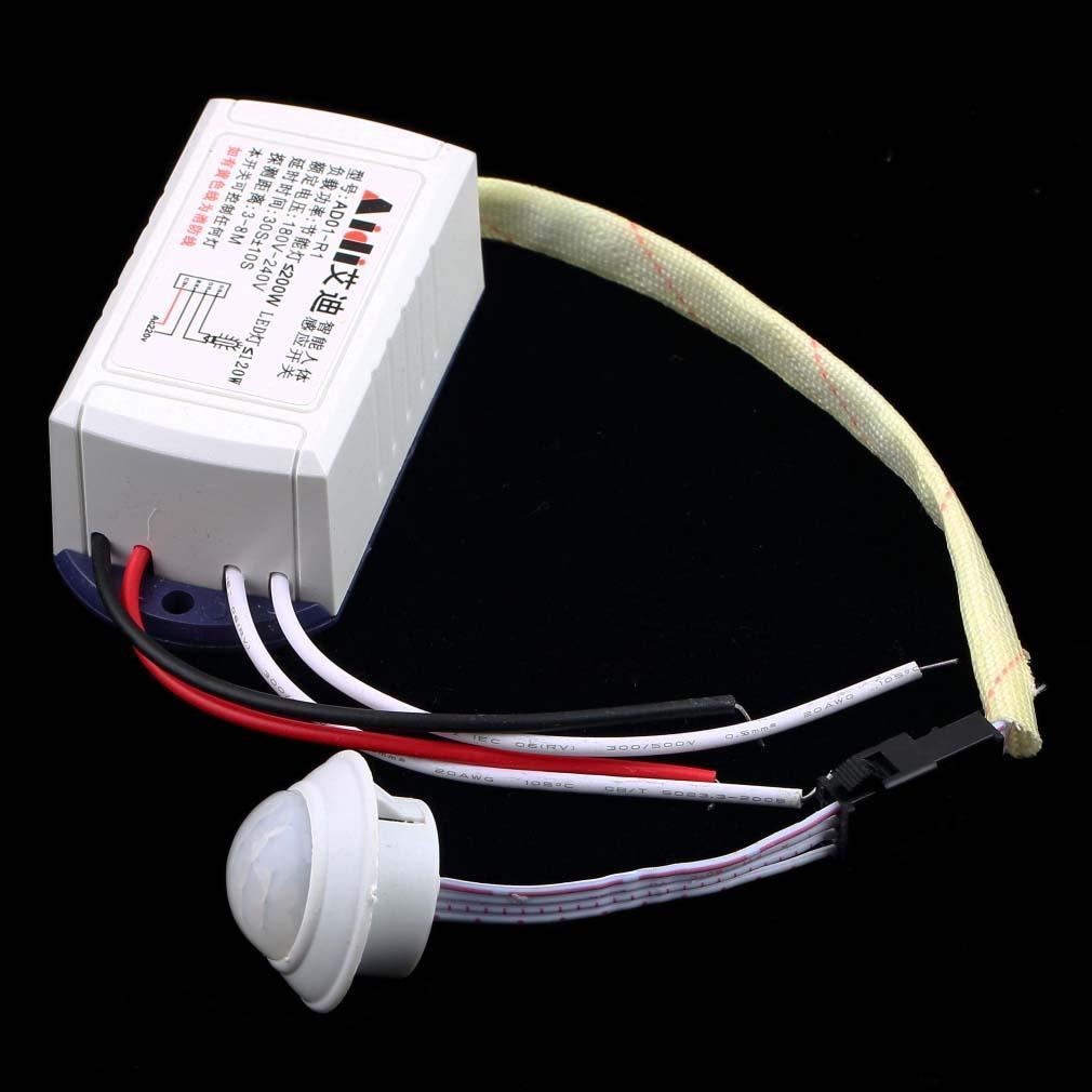 1pc Hot Newest 200W 220V IR Infrared Module Body Sensor Switch Intelligent Light Lamps Motion Sensing Switch
