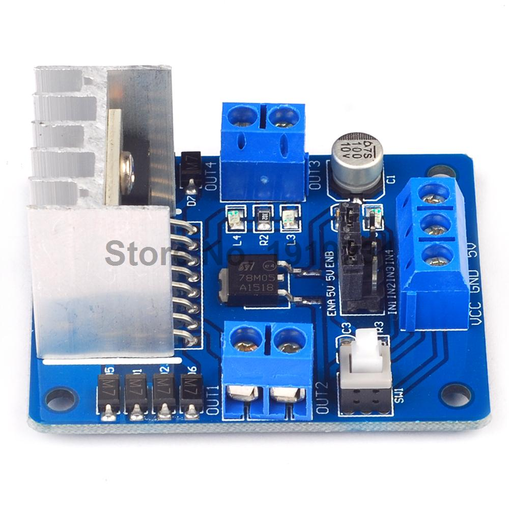 3PCS L298N Dual Bridge DC stepper Controller Motor Driver module Board High Qualiy