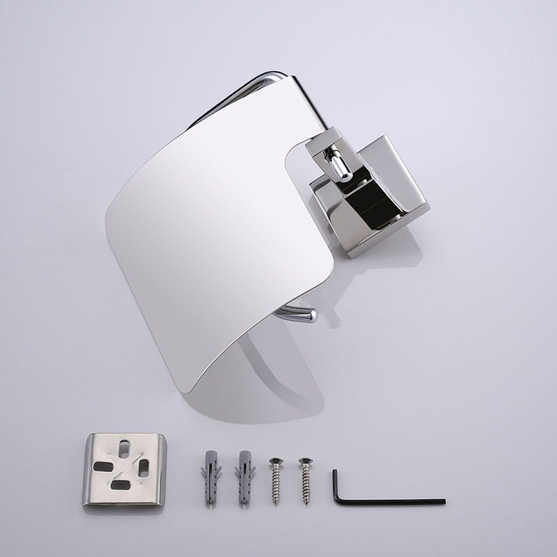 304 Stainless Steel Polished Chrome Toilet Paper Holder/Paper Box Roll Rolder Silver Tissue Box Bathroom Accessories