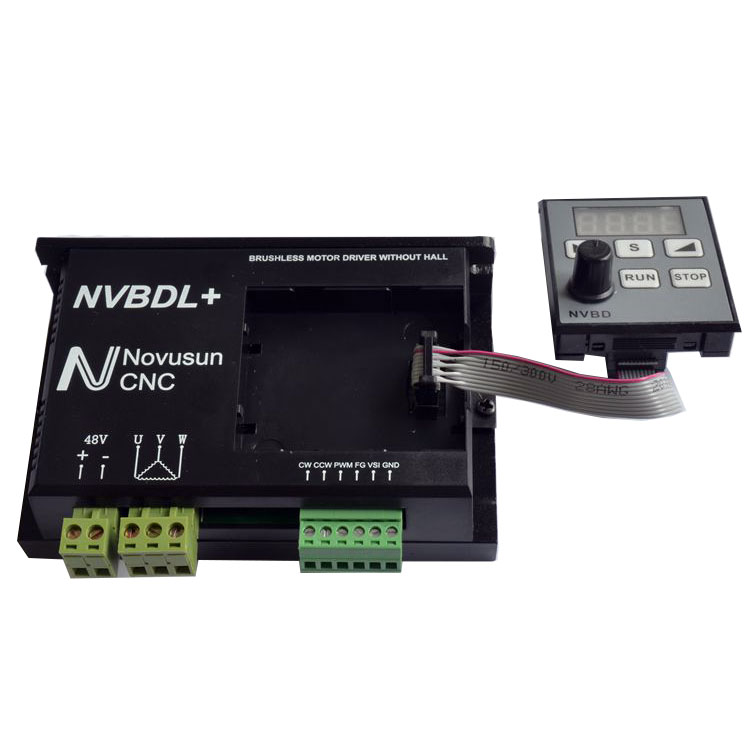 NVBDL+ Brushless Motor Driver without Hall Controller CNC for Spindle Engraving Machine