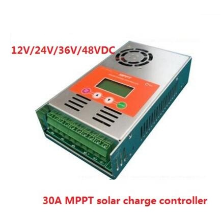 high quality 2 years warranty 30A 12V/24V/36V/48V auto work MPPT Solar Charge Controller Regulator for solar system