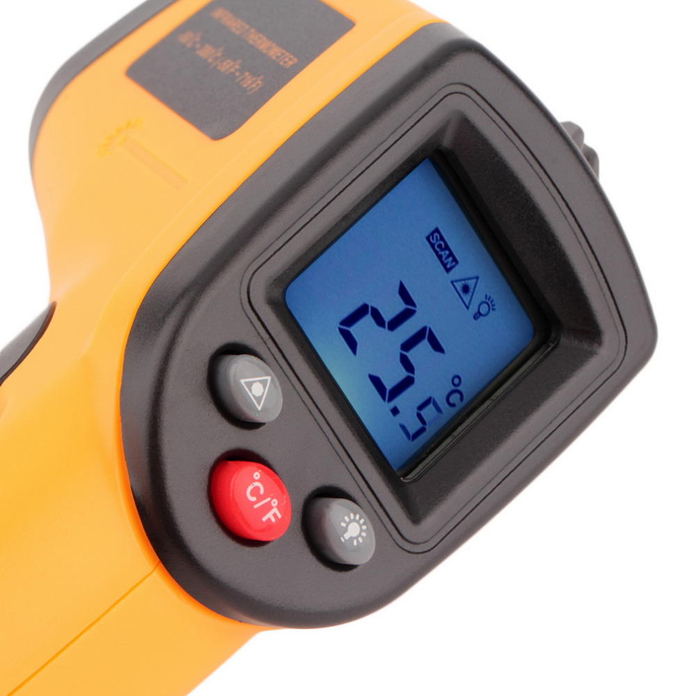 GM320 Laser LCD Digital IR Infrared Thermometer Temperature Meter Gun Point -50~330 Degree Non-Contact Thermometer