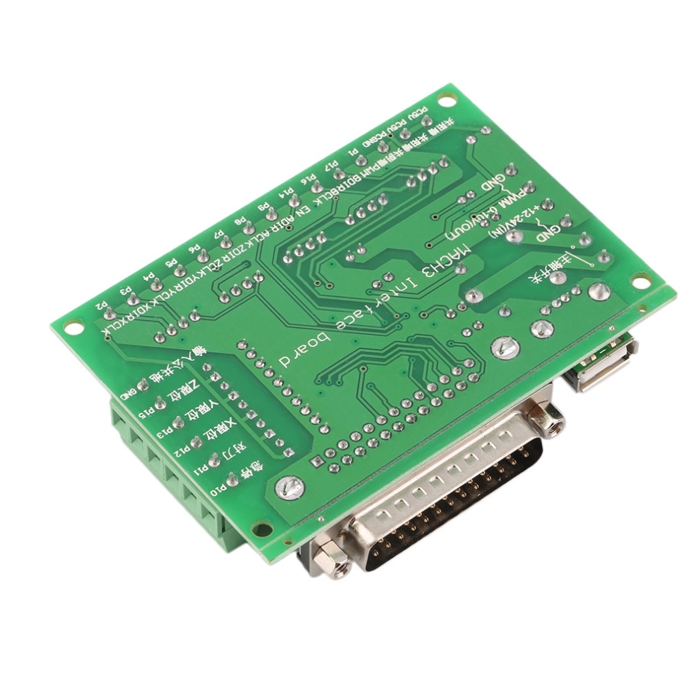 Hot new arrival 5 Axes CNC Breakout Board w/Optical Coupler For MACH3 Stepper Motor Driver