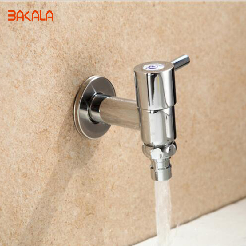 BAKALA New RVT Chrome Brass Tap Basin The washing machine Wash Basin Faucet Bathroom
