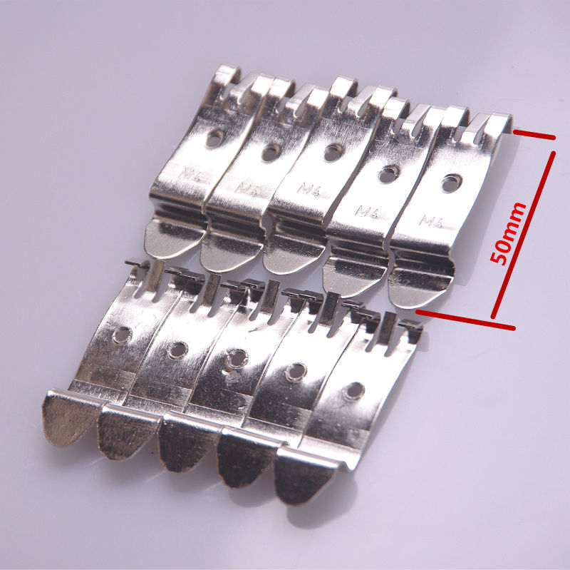 buckle/DIN guide rail buckle 35mm black buckle Aluminum alloy  Simple fixing rack