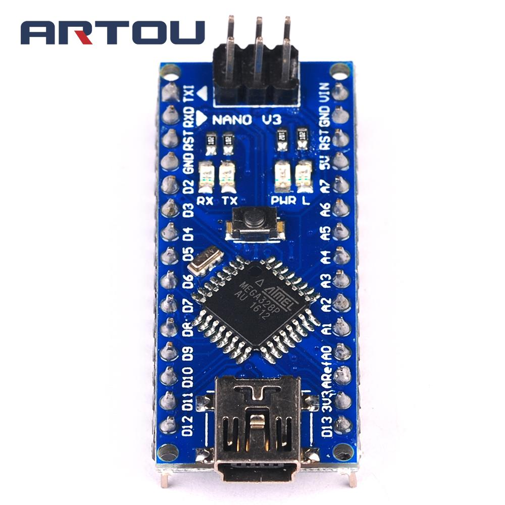 5PCS Nano 3.0 Controller Compatible With Arduino Nano CH340 USB Driver NO CABLE NANO V3.0