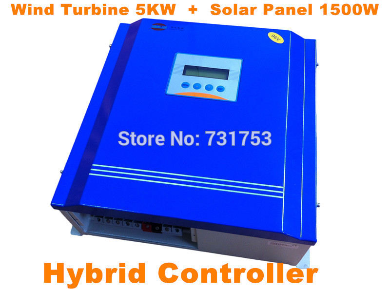 MAYLAR@ Rated Battery Voltage360V380V Wind Turbine5KW+PV Model1.5kW Hybrid Controller With Communication LCD For Off-grid System