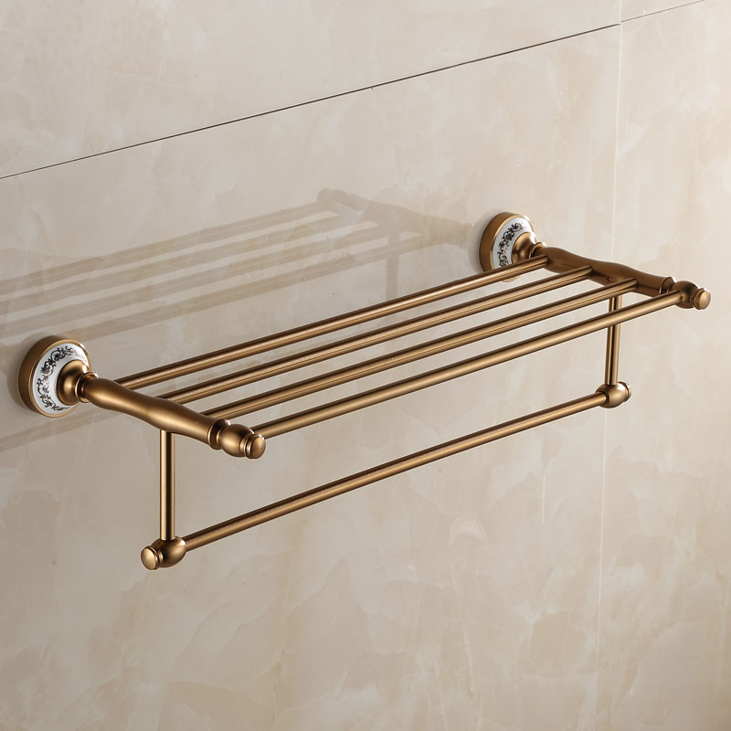 European Space Aluminum Porcelain Antique Bronze Towel Rack American Bathroom Accessories