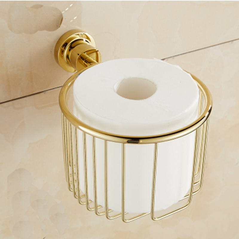 Newly Arrival Wholesale and Retail Bathroom Shower Room Toilet Paper Basket Holder Round Tissue Rack Shelf  Wall Mounted