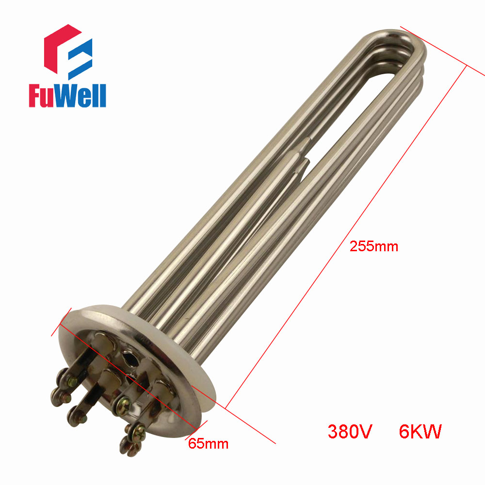 Stainless Steel Heating Tube Element 380V 6KW Electric Water Heater Pipe for Water Heating