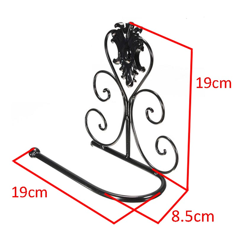Retro Metal Iron Wrought Toilet Paper Holder Rack Bathroom Wall Mount Paper Holder For Bath Decors
