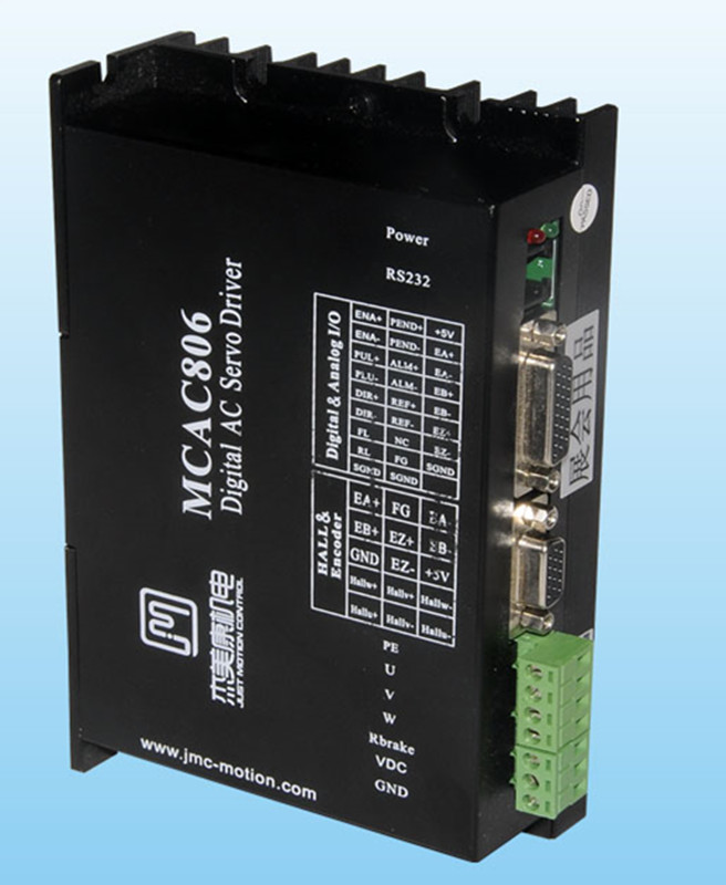 80W-400W 36V-80VDC Full closed loop digital AC servo driver JMC MCAC806