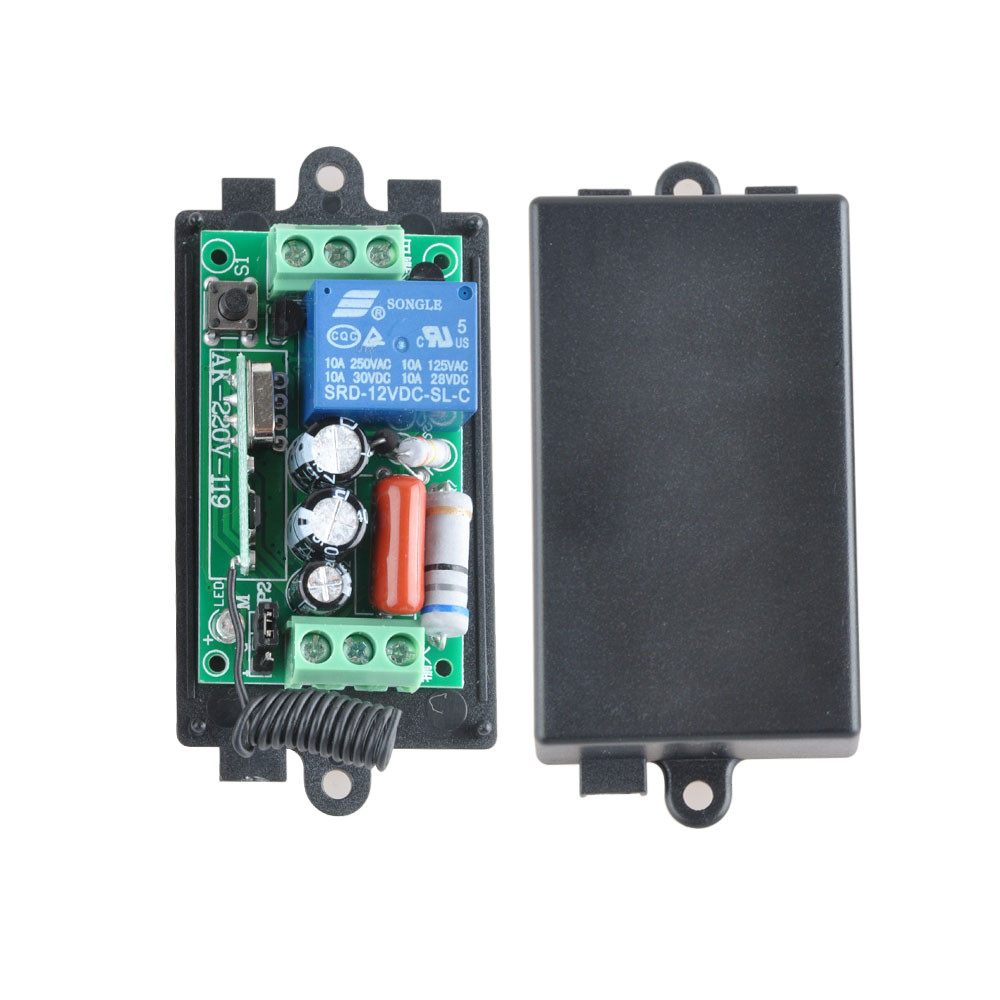 AC 220 V 1CH 10A Relay RF Wireless Remote Control Switch Wireless Light Switch Receiver + 2PCS Transmitter  315Mhz / 433.92Mhz