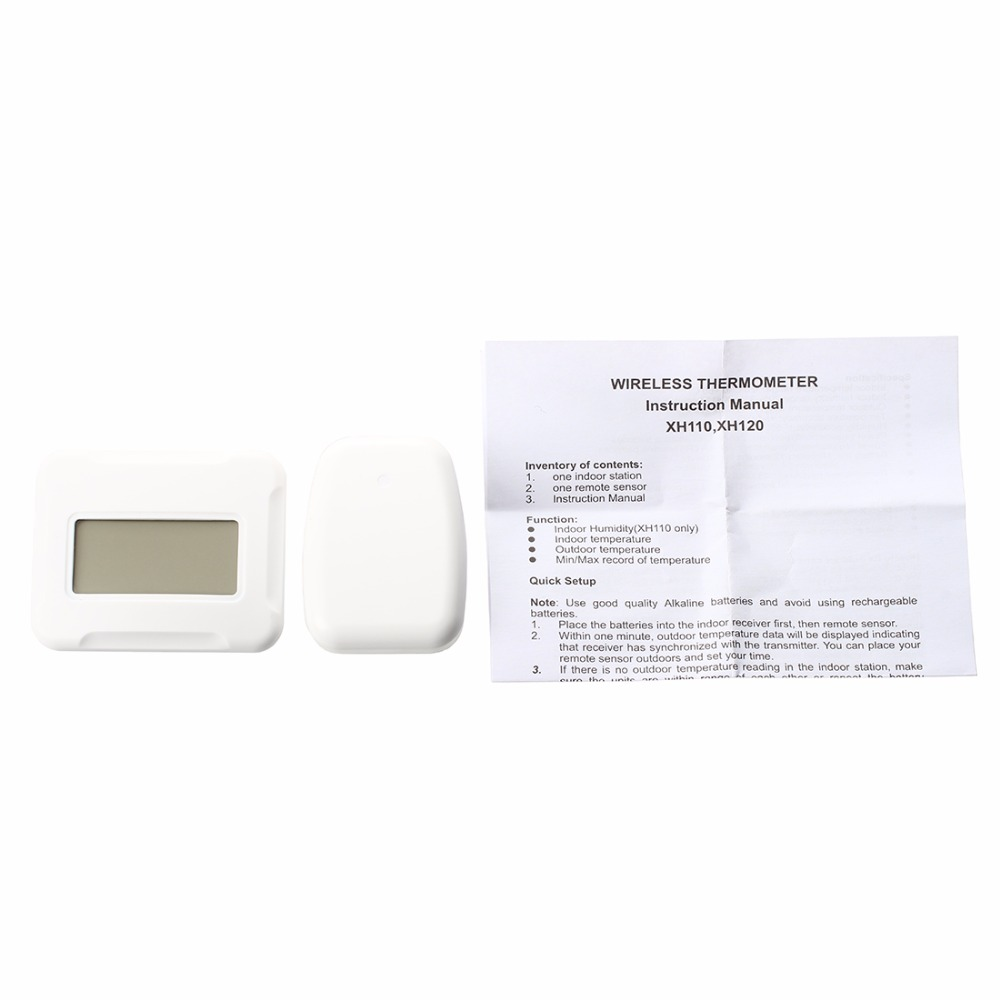 Promotion! New Digital Wireless LCD thermometer Indoor + Outdoor