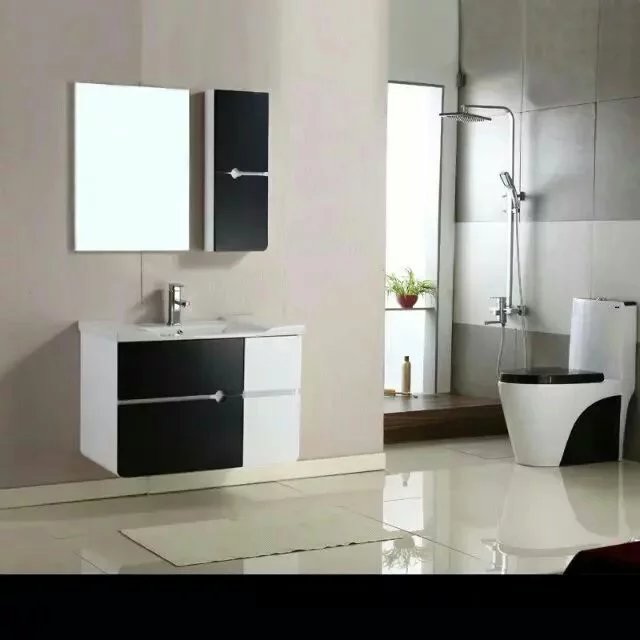 Wall Mounted single Sink Modern European Design Bathroom Cabinets 0283-1000