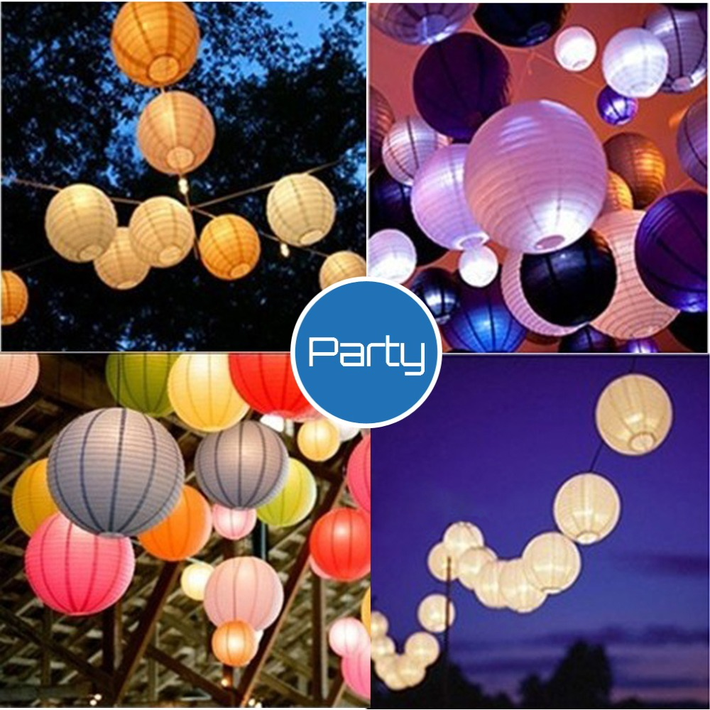 "Round Multicolor Chinese paper Lanterns Wedding Party Decoration 8"" Newclearance sale"