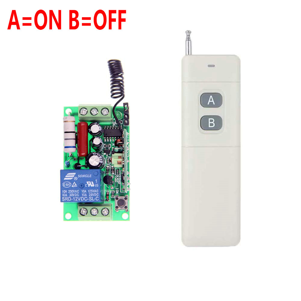 3000m AC 220V 110V 1 CH 1CH RF Wireless Remote Control Switch System,315/433.92 MHZ Transmitter + Receiver,Latched (A-ON,B-OFF)