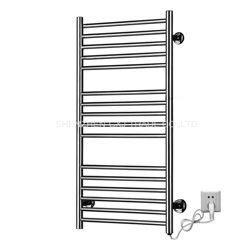 4pcs Heated Towel Rail Holder Bathroom AccessoriesTowel Rack Stainless Steel ElectricTowel Warmer Towel Dryer 120W