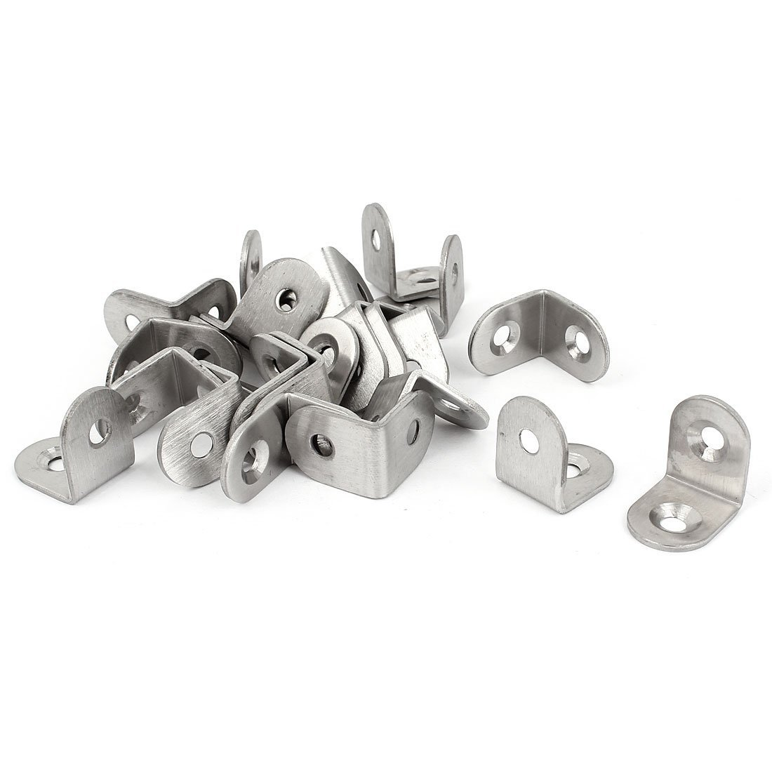 CNIM Hot Bracket - Furniture Shelf 20x20x15mm L Shaped Angle Brackets Supports clip 25 pieces