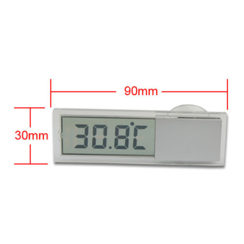 Vehicle Car View Mirror Home Window Suction Cup Digital LCD Temperature Thermometer