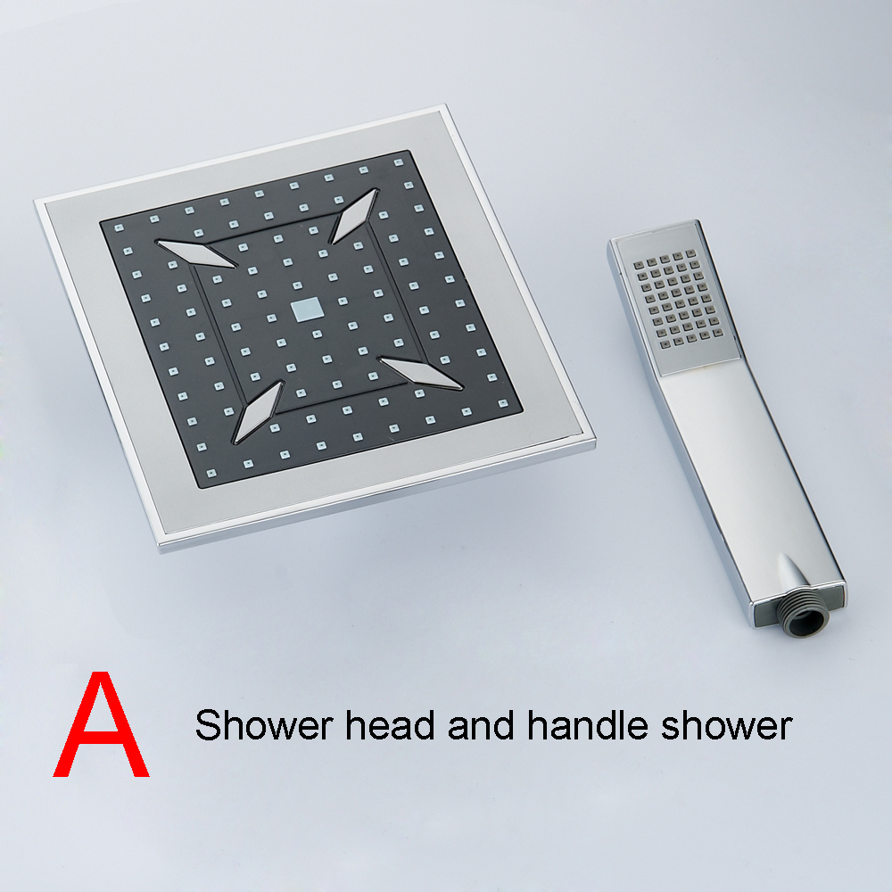 BAKALA  8 inch Bathroom rain  shower faucets Diamond Designs ABS head hand shower for Bath Showering System  4