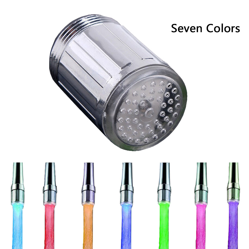 jooe LED Water Faucet Stream Light 7 Colors Changing Glow Shower Tap ...