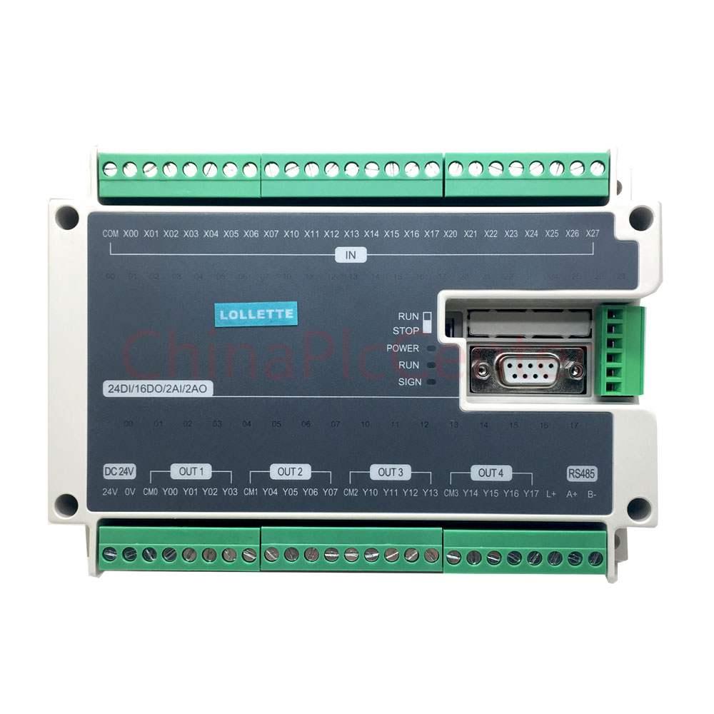 FX1N FX2N FX3U 40MT 24DI 16DO 2AD 2DA Analog for PLC RS485