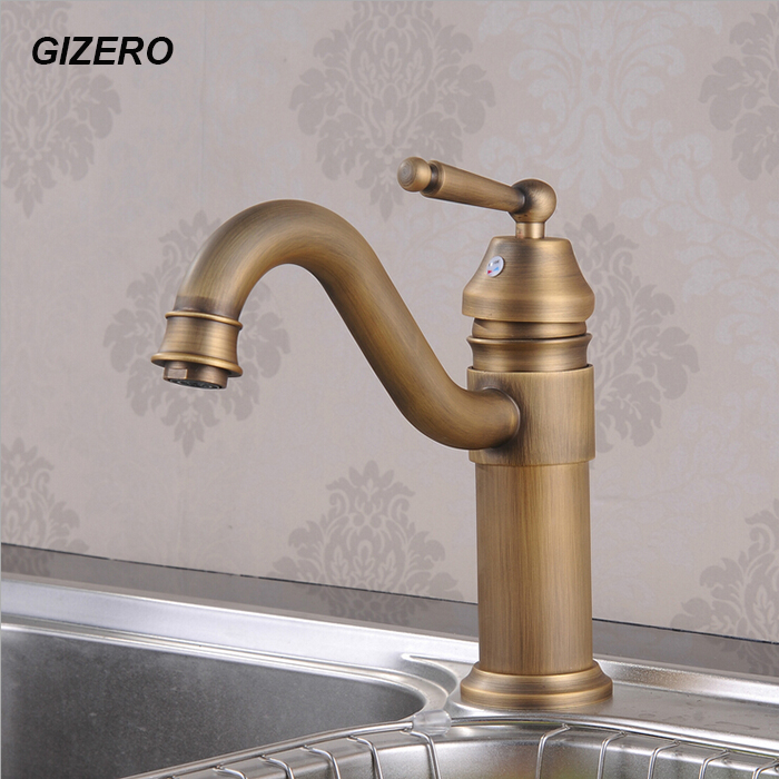 "9"" Basin Mixer Bathroom hot and cold Faucet Swivel Antique Bronze Deck Mounted Vessel Sink Vanity Taps ZR113"