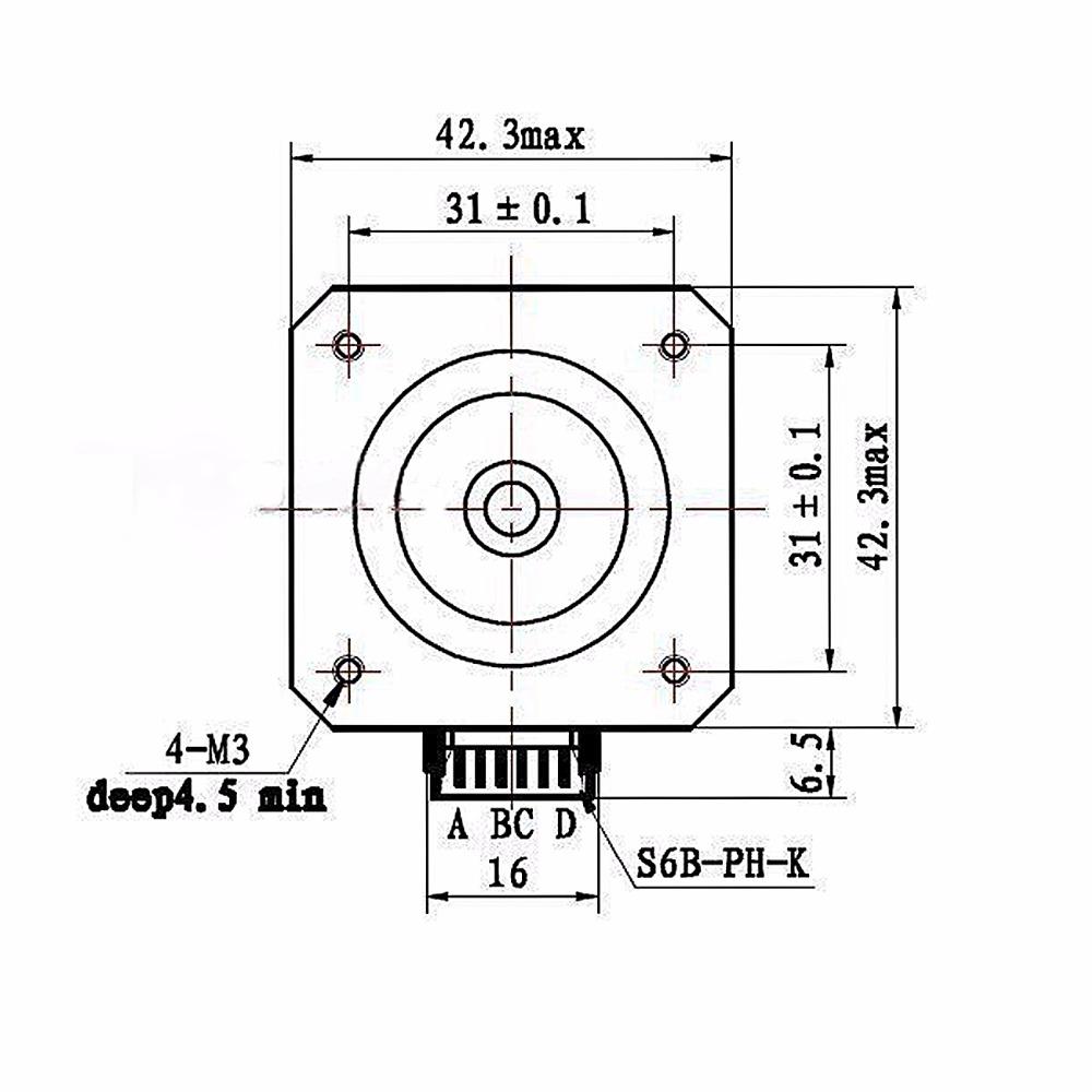 USA EU AU Stock 5PCS NEMA 17 Stepper Motors Kit 12V for CNC Reprap Nema Stepper Oz Wiring Diagram on