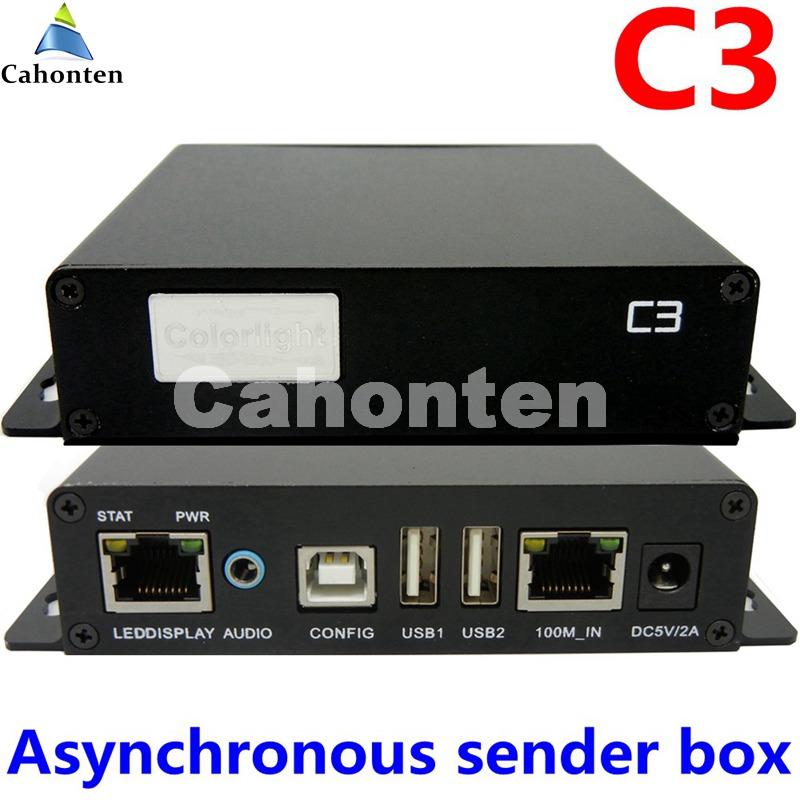 C3 player Asynchronous full color led sending box USB port led video display controller sender box 1920*1080 pixels RGB TV  wall