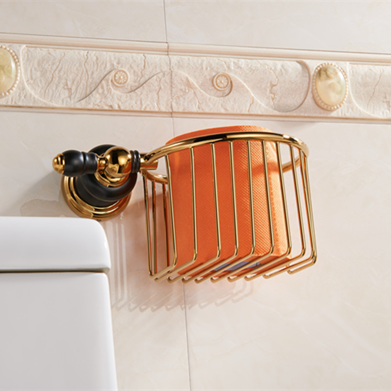 Luxury gold brass Toilet Paper basket Holder toilet paper roll Holder,Tissue bumf Holder,Bathroom Accessories Products