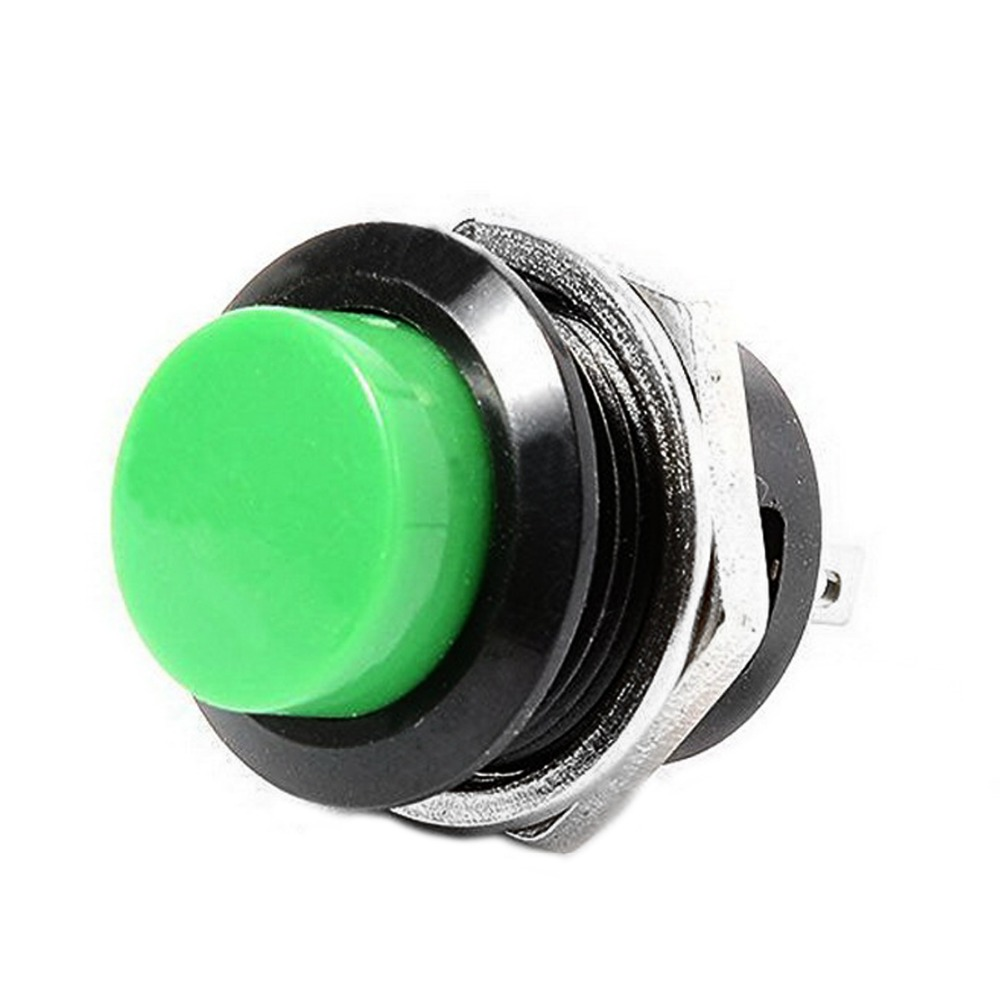 5Pcs Black Momentary Button Switch Installing Hole 16mm R13-507  SA170 P50