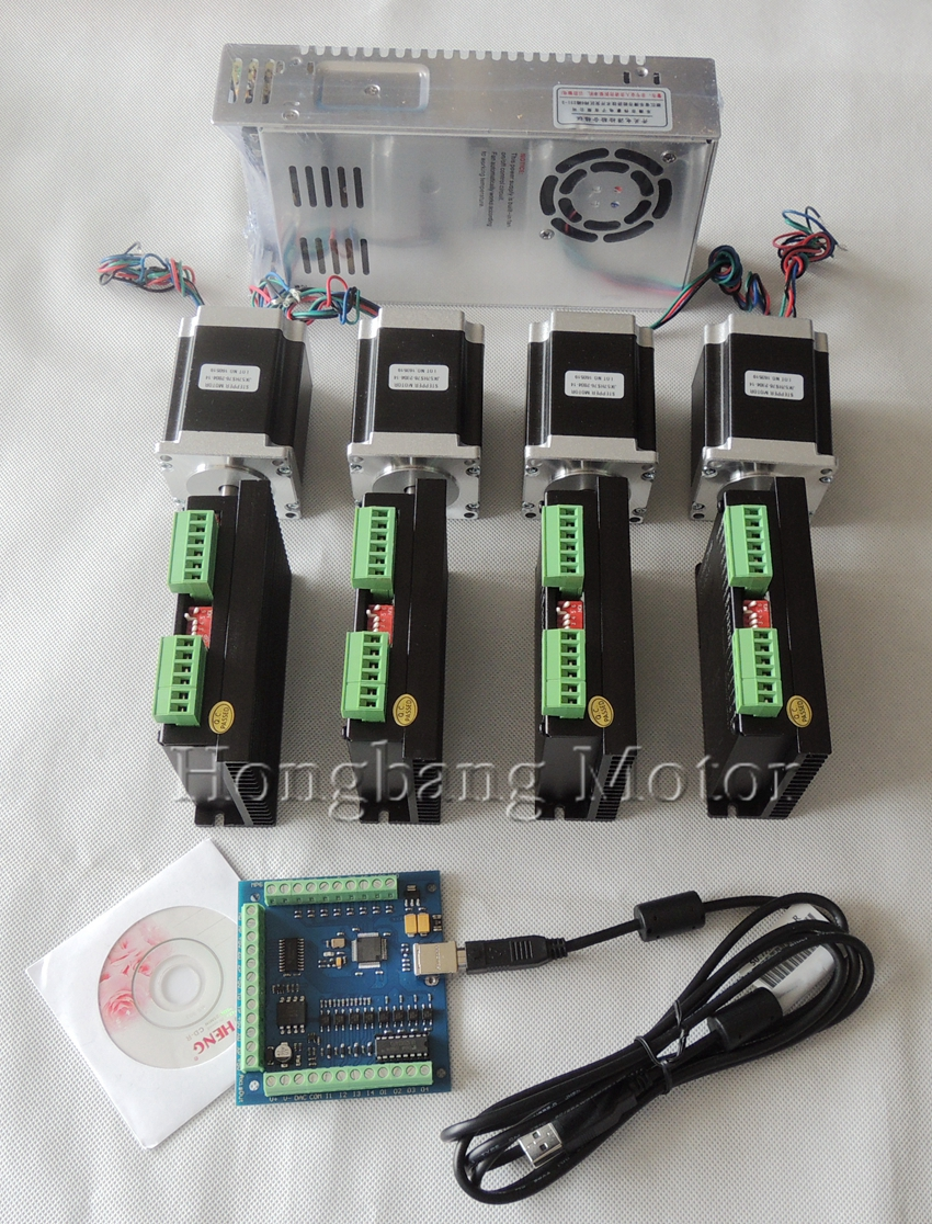 CNC TB6600 mach3 usb 3 Axis Kit, 3pcs TB6600 1 Axis Driver + one