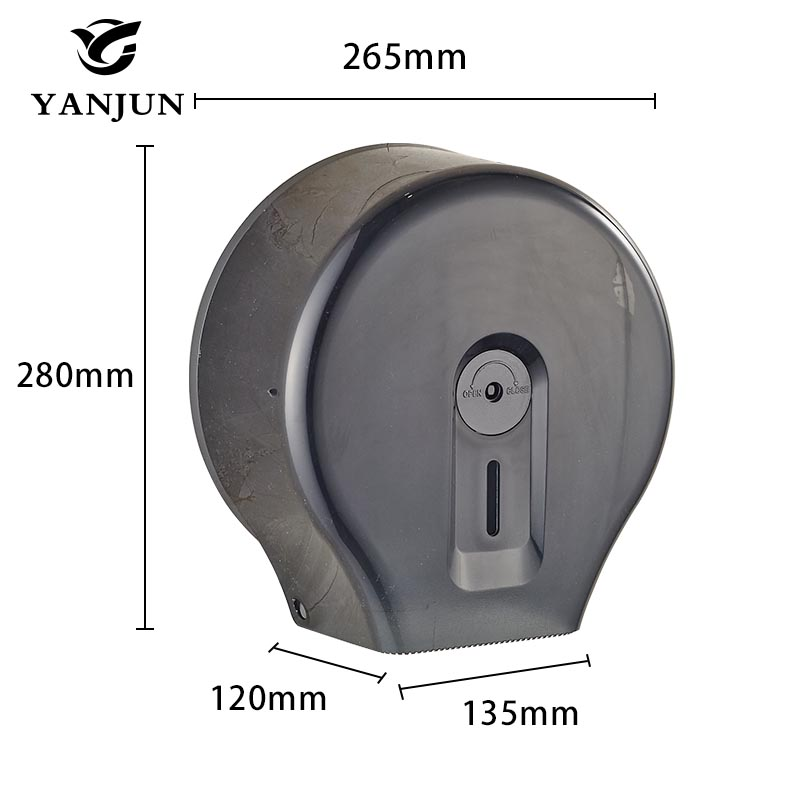 Yanjun Toilet Anti-drop Paper Jumbo Roll Holder  Wall Mounted Paper Towel Dispenser Bathroom Accessories YJ-8608