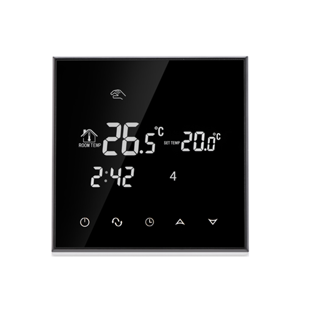 Programmable  LCD Touch Screen Room floor heating thermostat with Double sensor