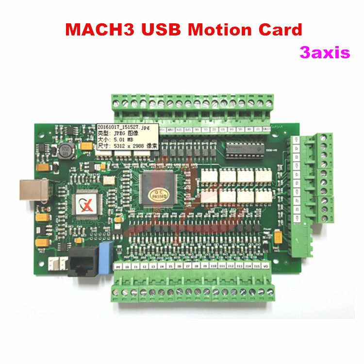 New CNC Controller Driver Board CNC MACH3 USB motion card 3 axis