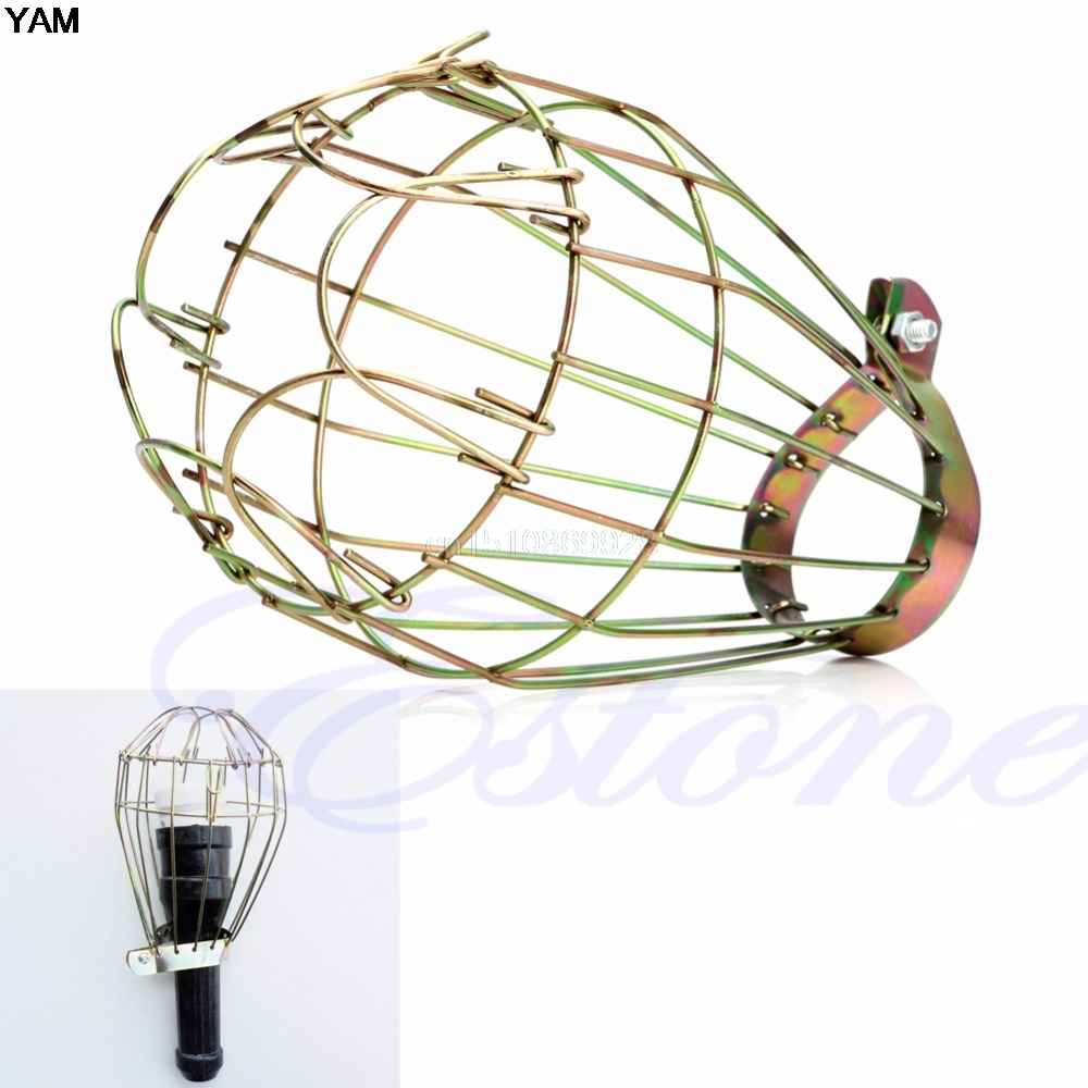 Lighting Accessories Industrial Iron Wire Bulb Guards Clamp Metal Lamp Cage Trouble Light Parts Lights & Lighting