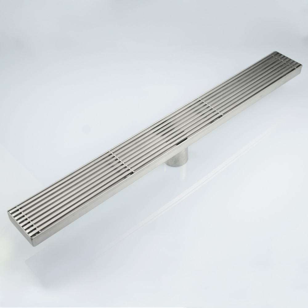 High flow 304 Stainless steel Bathroom 600mm Rectangle Shower room floor drain,Rapid drainage